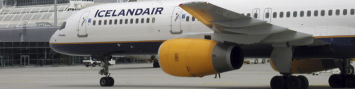 Airplane Icelandair header/airports