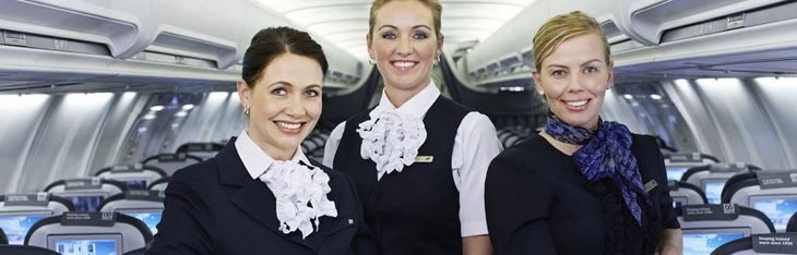Crew on board Icelandair