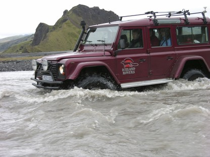 LandRover in River